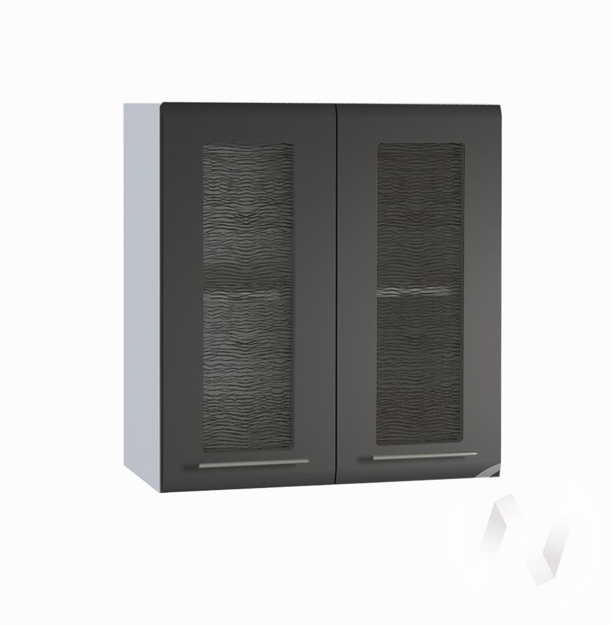 "Кухня ""Люкс"": Шкаф верхний со стеклом 600, ШВС 600 (Шелк венге/корпус белый)"