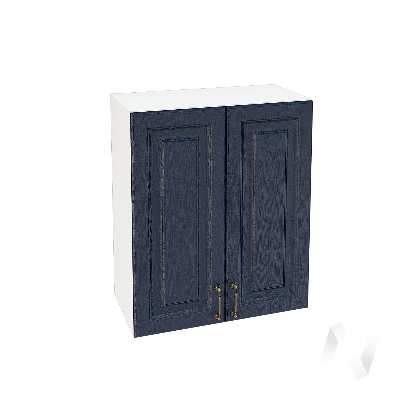 """Кухня """"Ницца"""": Шкаф верхний 600, ШВ 600 (Дуб чернильный/корпус белый)"""