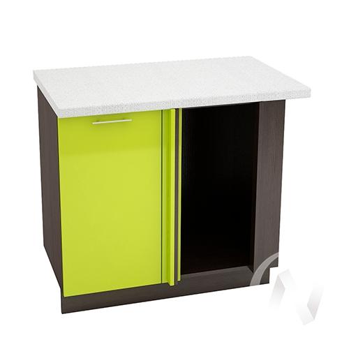 "Кухня ""Валерия-М"": Шкаф нижний угловой 990М, ШНУ 990М (лайм глянец/корпус венге)"