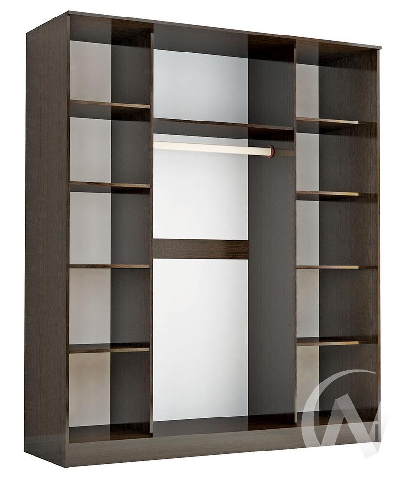 """Шкаф-купе """"Комфорт 3"""" с тремя зеркалами 1,85 (венге)  в Томске — интернет магазин МИРА-мебель"""