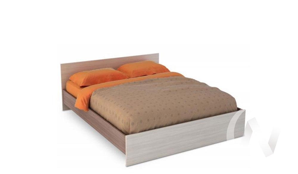 Бася Кровать 1,6 ЛДСП (ясень шимо темный/ясень шимо светлый) КР 558