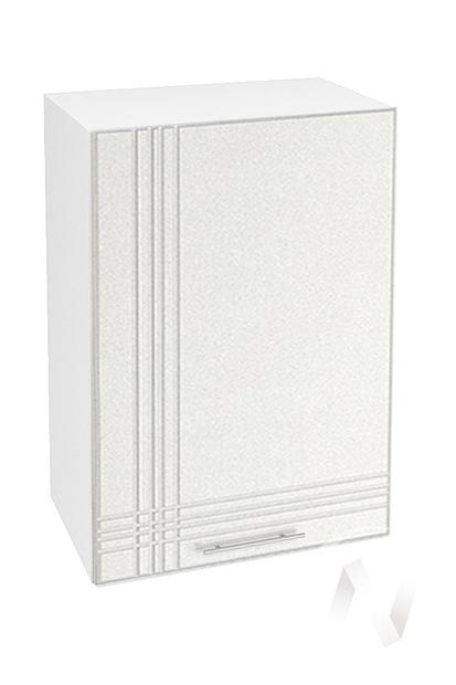 """Кухня """"Струна"""": Шкаф верхний 500, ШВ 500 (белый металлик/корпус белый)"""