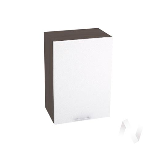"Кухня ""Валерия-М"": Шкаф верхний 500, ШВ 500 (белый металлик/корпус венге)"