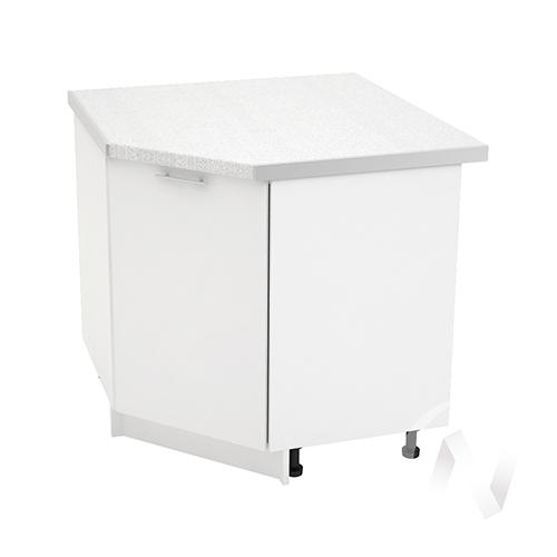"Кухня ""Валерия-М"": Шкаф нижний угловой 890, ШНУ 890 (белый глянец/корпус белый)"