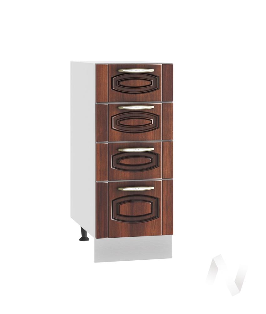 """Кухня """"Неаполь"""": Шкаф нижний с 4-мя ящиками 300, ШН4Я 300 (Италия/корпус белый)"""