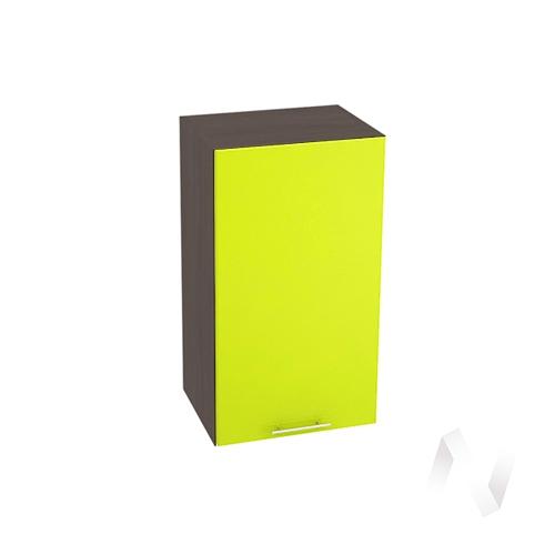 "Кухня ""Валерия-М"": Шкаф верхний 400, ШВ 400 (лайм глянец/корпус венге)"