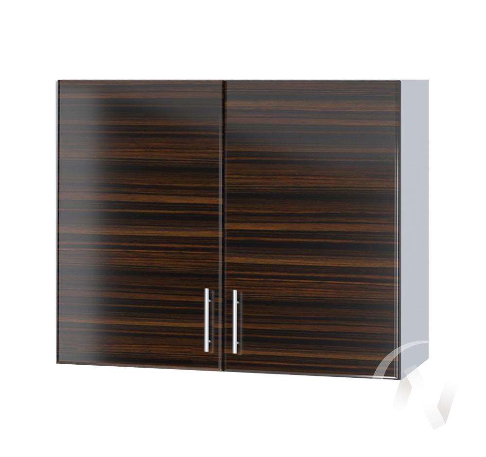 """Кухня """"Норден"""": Шкаф верхний 800, ШВ 800 (эбен/корпус белый)"""