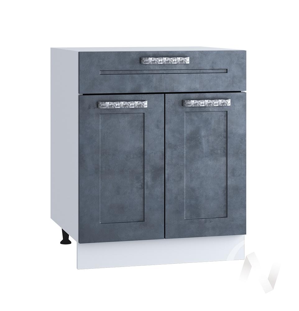 """Кухня """"Лофт"""": Шкаф нижний с ящиком 600, ШН1Я 600 М (Бетон графит/корпус белый)"""