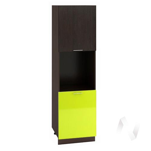 "Кухня ""Валерия-М"": Шкаф пенал 600, ШП 600 (венге/лайм глянец/корпус венге)"