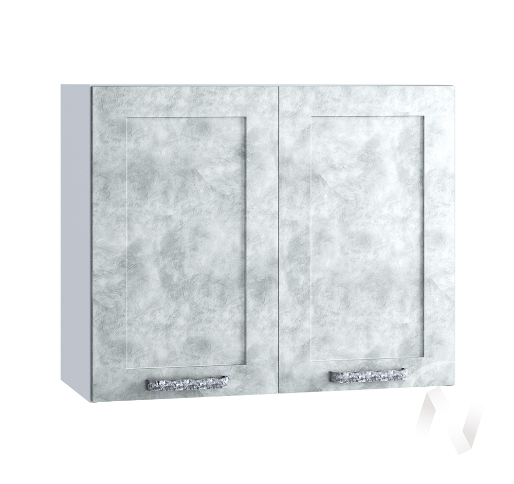 "Кухня ""Лофт"": Шкаф верхний 800, ШВ 800 (Бетон серый/корпус белый)"