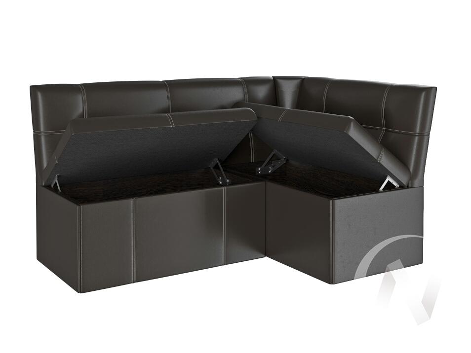 Скамья угловая Квадро тип 3 (гольф/шоколад)  в Томске — интернет магазин МИРА-мебель