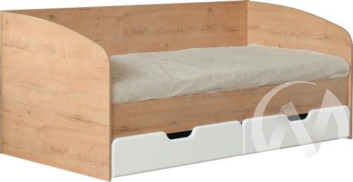 Скай М14 Кровать с ящиками 800*2000 (дуб бунратти/белый глянец)