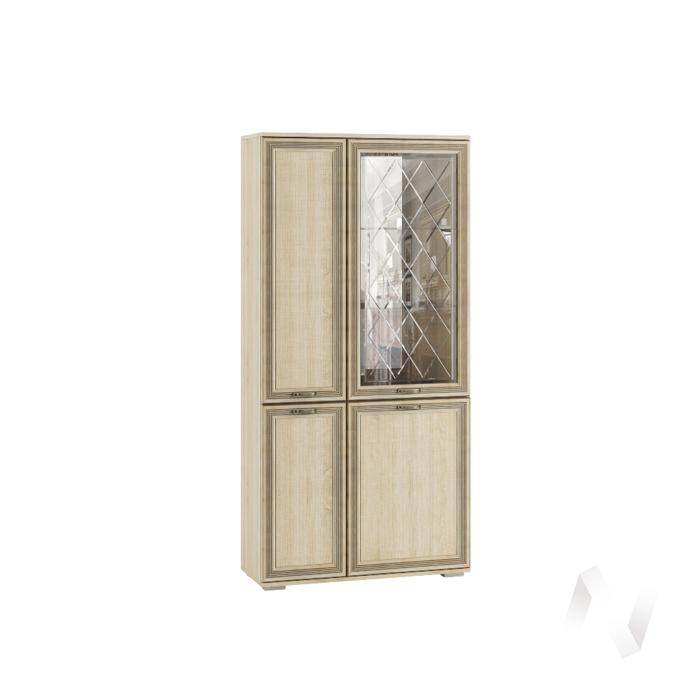 Шкаф с полками и витриной ЛШ-6 Гостиная Ливорно (дуб сонома)