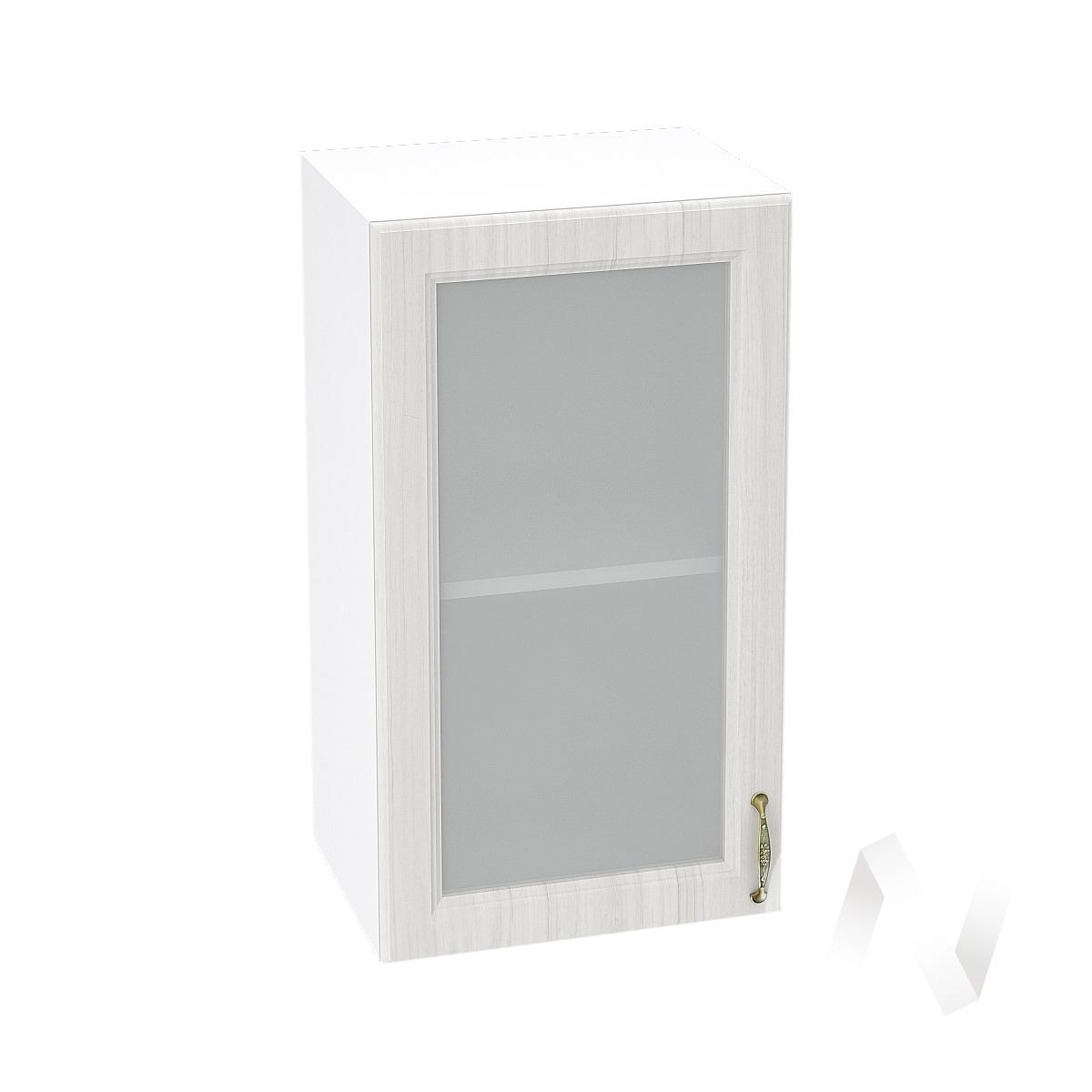 """Кухня """"Виктория"""": Шкаф верхний со стеклом 400, ШВС 400 (корпус белый)"""