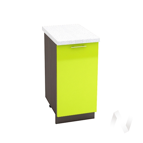 "Кухня ""Валерия-М"": Шкаф нижний 400, ШН 400 (лайм глянец/корпус венге)"
