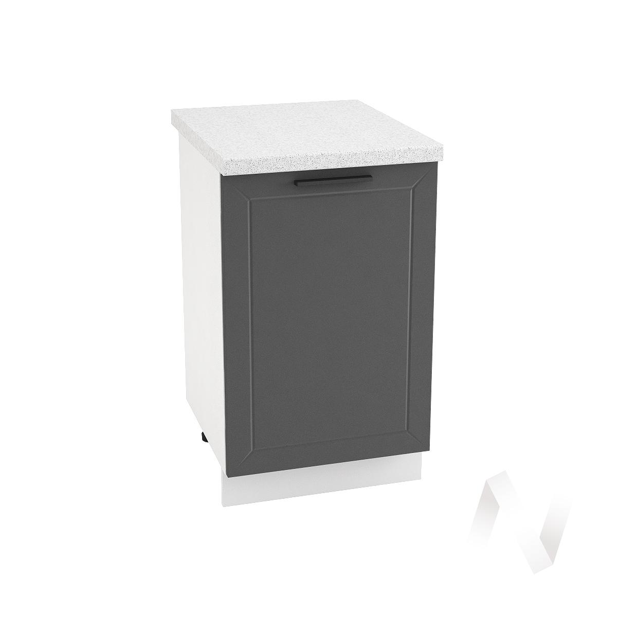 """Кухня """"Глетчер"""": Шкаф нижний 500, ШН 500 (Маренго силк/корпус белый)"""