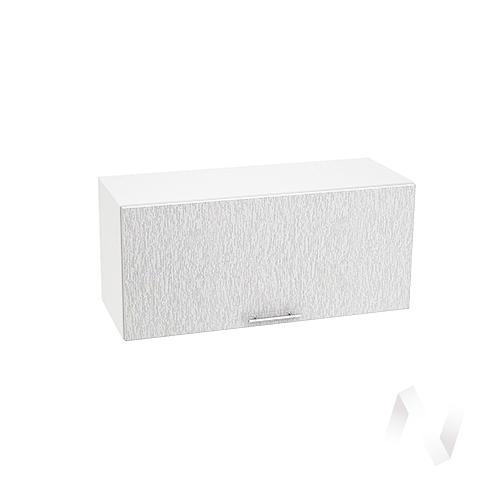 """Кухня """"Валерия-М"""": Шкаф верхний горизонтальный 800, ШВГ 800 (дождь серый/корпус белый)"""