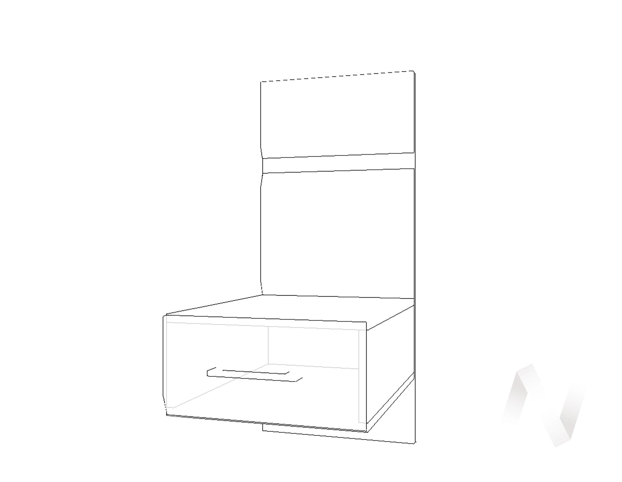 Тумба прикроватная с 1-м ящиком Николь МДФ (венге/белый глянец)  в Томске — интернет магазин МИРА-мебель