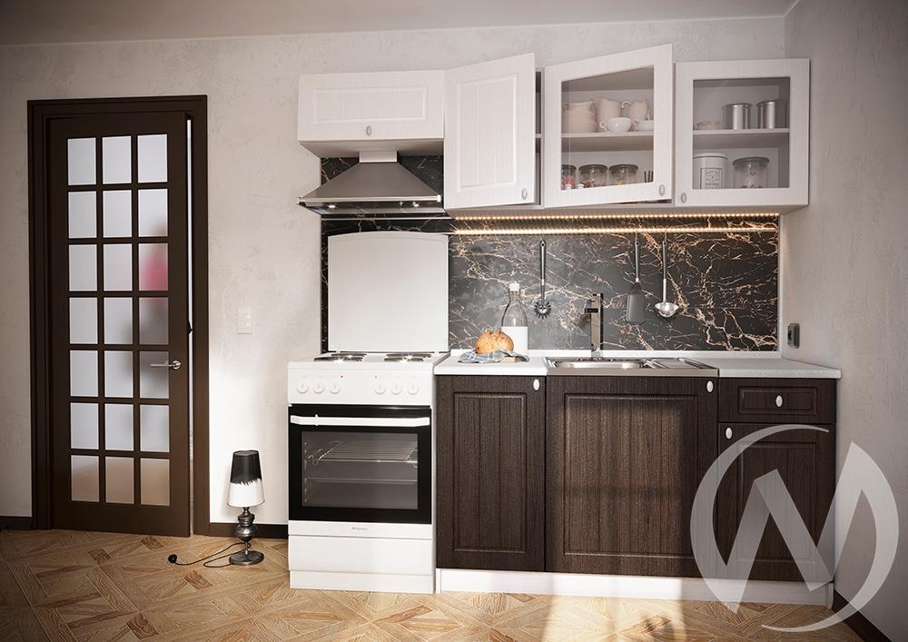 """Кухня """"Ассоль"""" (Венге премиум/Белое дерево/корпус белый)"""