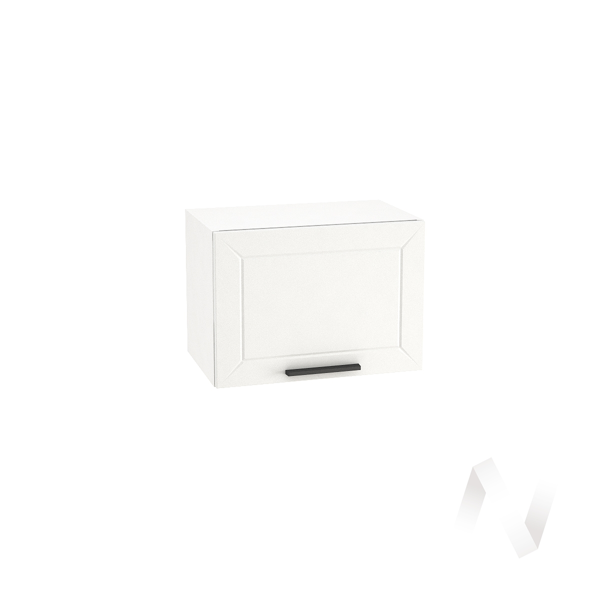 """Кухня """"Глетчер"""": Шкаф верхний горизонтальный 500, ШВГ 500 (Айленд силк/корпус белый)"""
