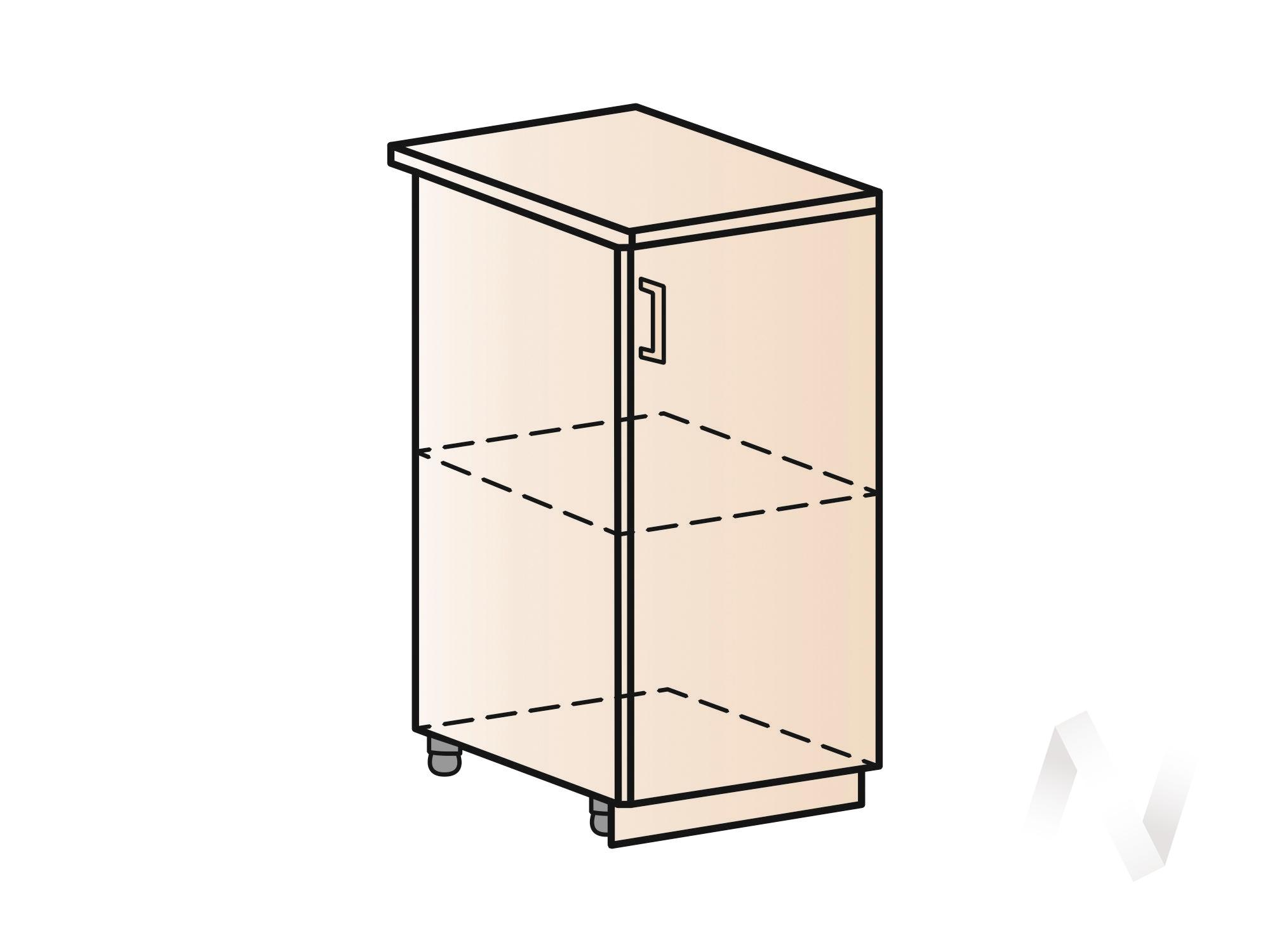 "Кухня ""Валерия-М"": Шкаф нижний 400, ШН 400 (белый глянец/корпус белый)"
