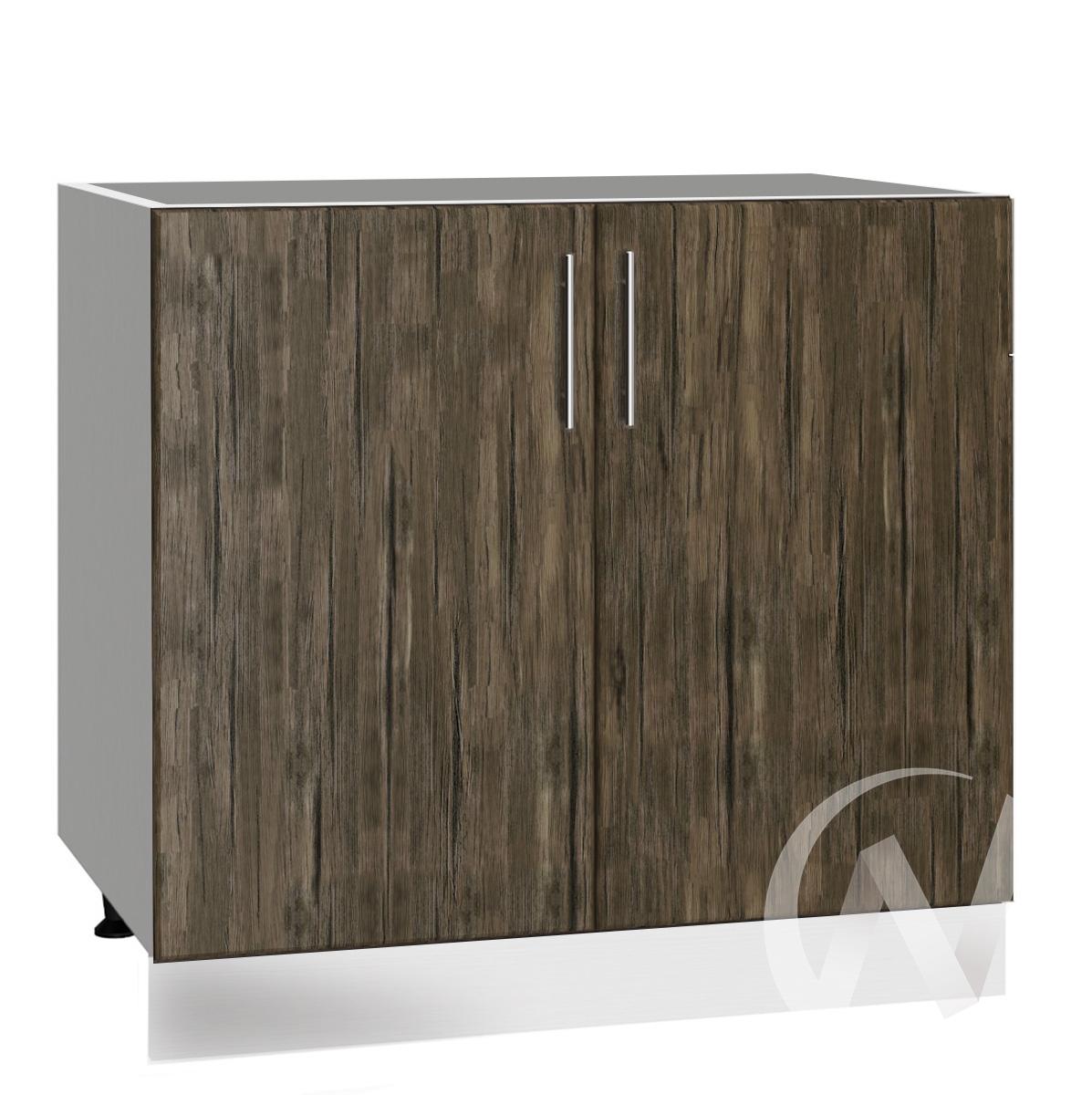 "Кухня ""Норден"": Шкаф нижний под мойку 800, ШНМ 800 (старое дерево/корпус белый)"