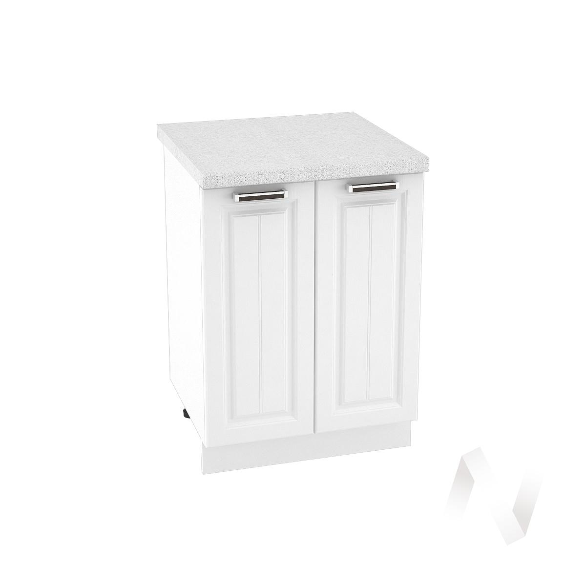 "Кухня ""Прага"": Шкаф нижний 600, ШН 600 (белое дерево/корпус белый)"