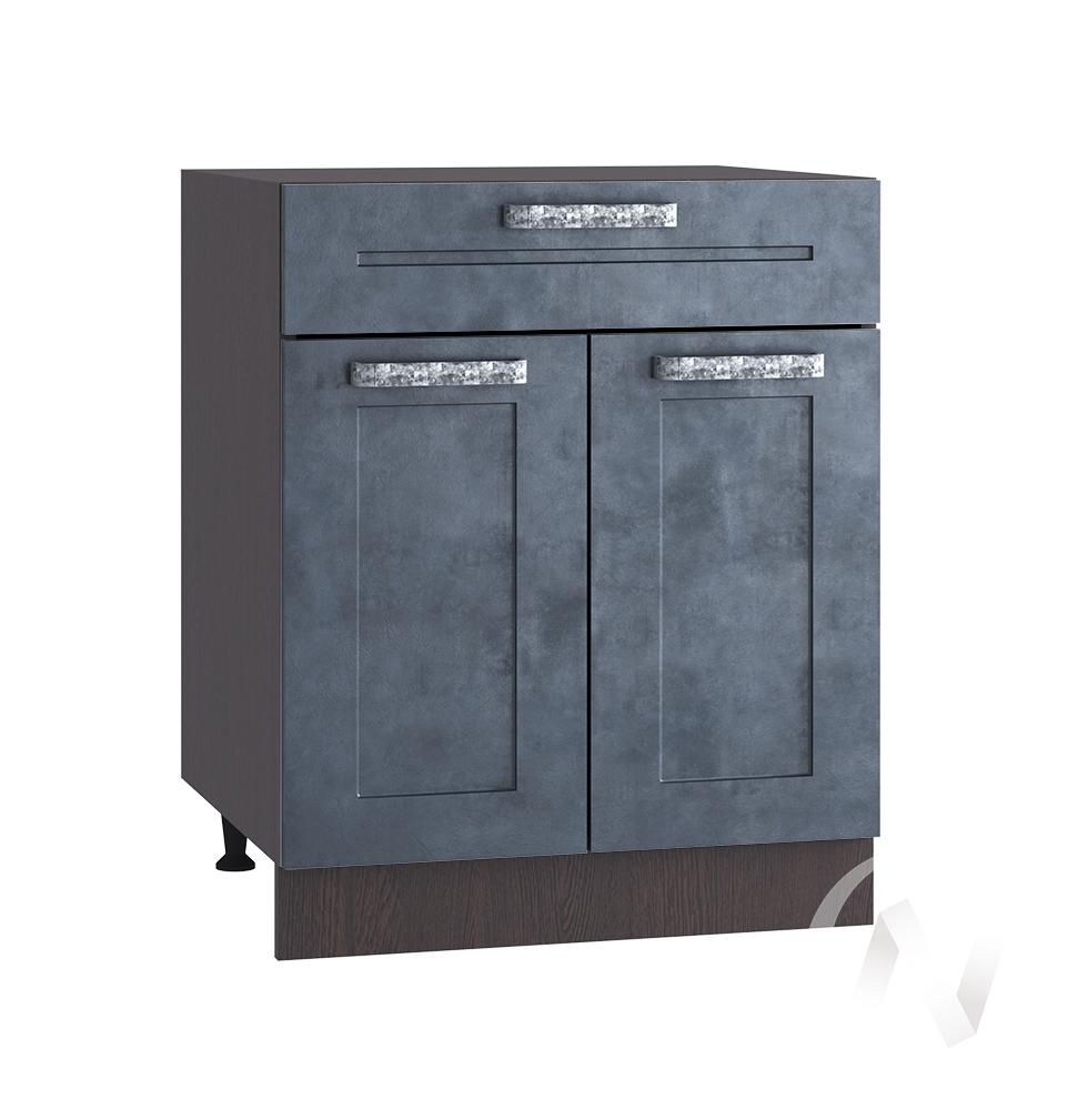 """Кухня """"Лофт"""": Шкаф нижний с ящиком 600, ШН1Я 600 М (Бетон графит/корпус венге)"""