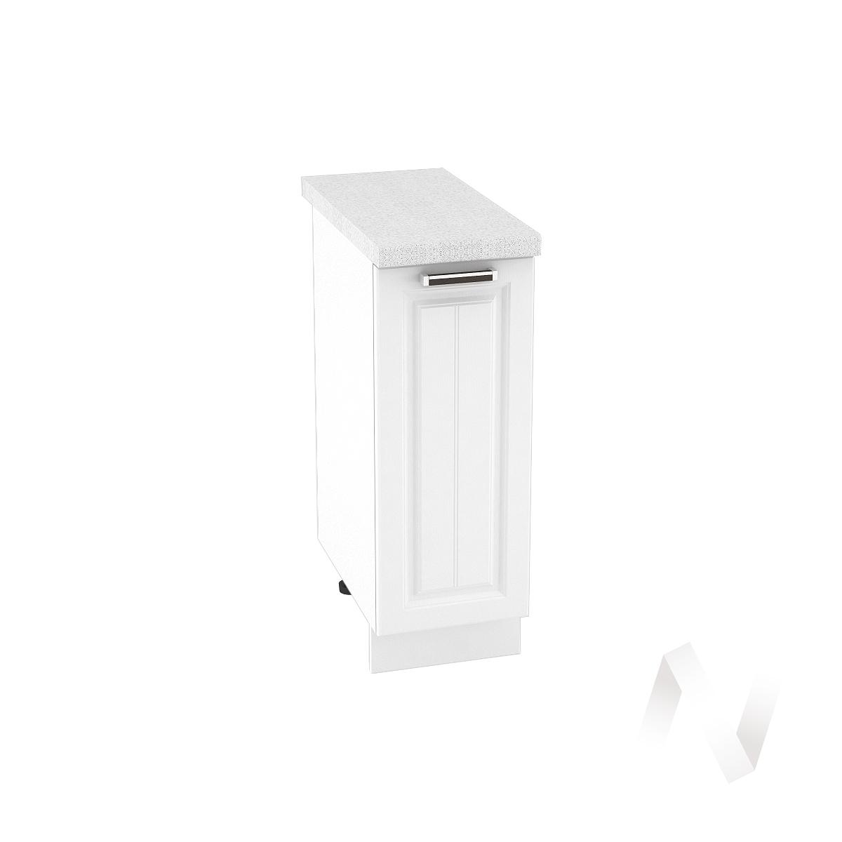 "Кухня ""Прага"": Шкаф нижний 300, ШН 300 (белое дерево/корпус белый)"