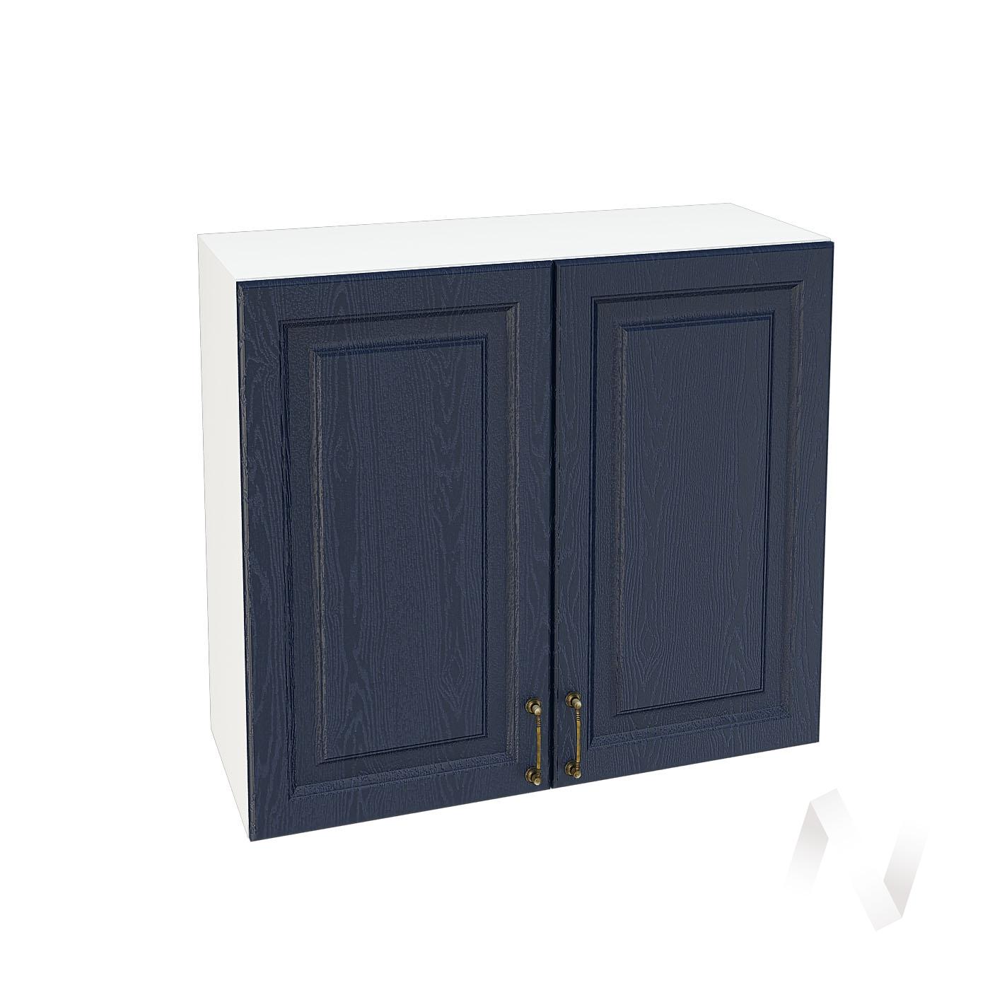 """Кухня """"Ницца"""": Шкаф верхний 800, ШВ 800 (Дуб чернильный/корпус белый)"""