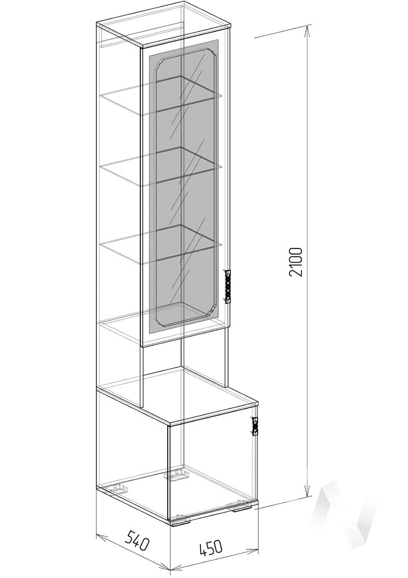Нежность М11 Пенал стекло (бодега/прованс)