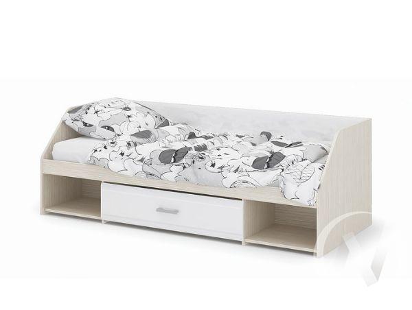 Кровать Симба (дуб белфорт/белый глянец)