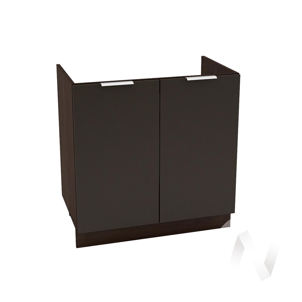 """Кухня """"Терра"""": Шкаф нижний под мойку 800, ШНМ 800 (смоки софт/корпус венге)"""