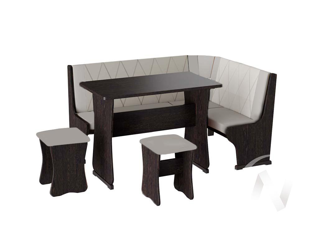 Кухонный уголок Гамма тип 2 кожзам (венге/серый,белый)  в Томске — интернет магазин МИРА-мебель