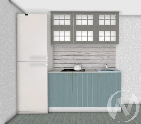 Кухня Прованс серый/голубой 1,5 №2