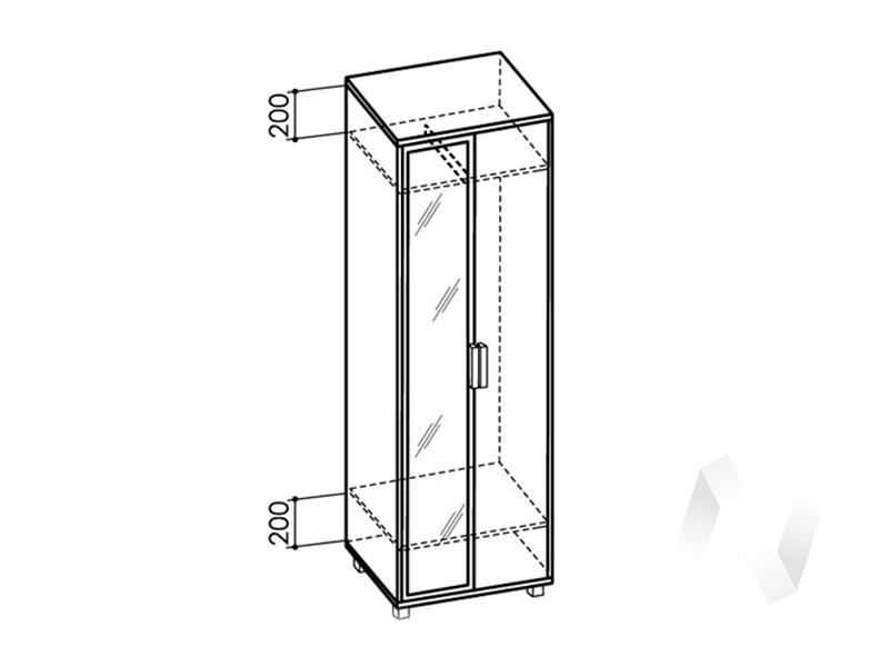 Шкаф 600 зеркало №4 WEST (ясень шимо темный/ясень шимо светлый)