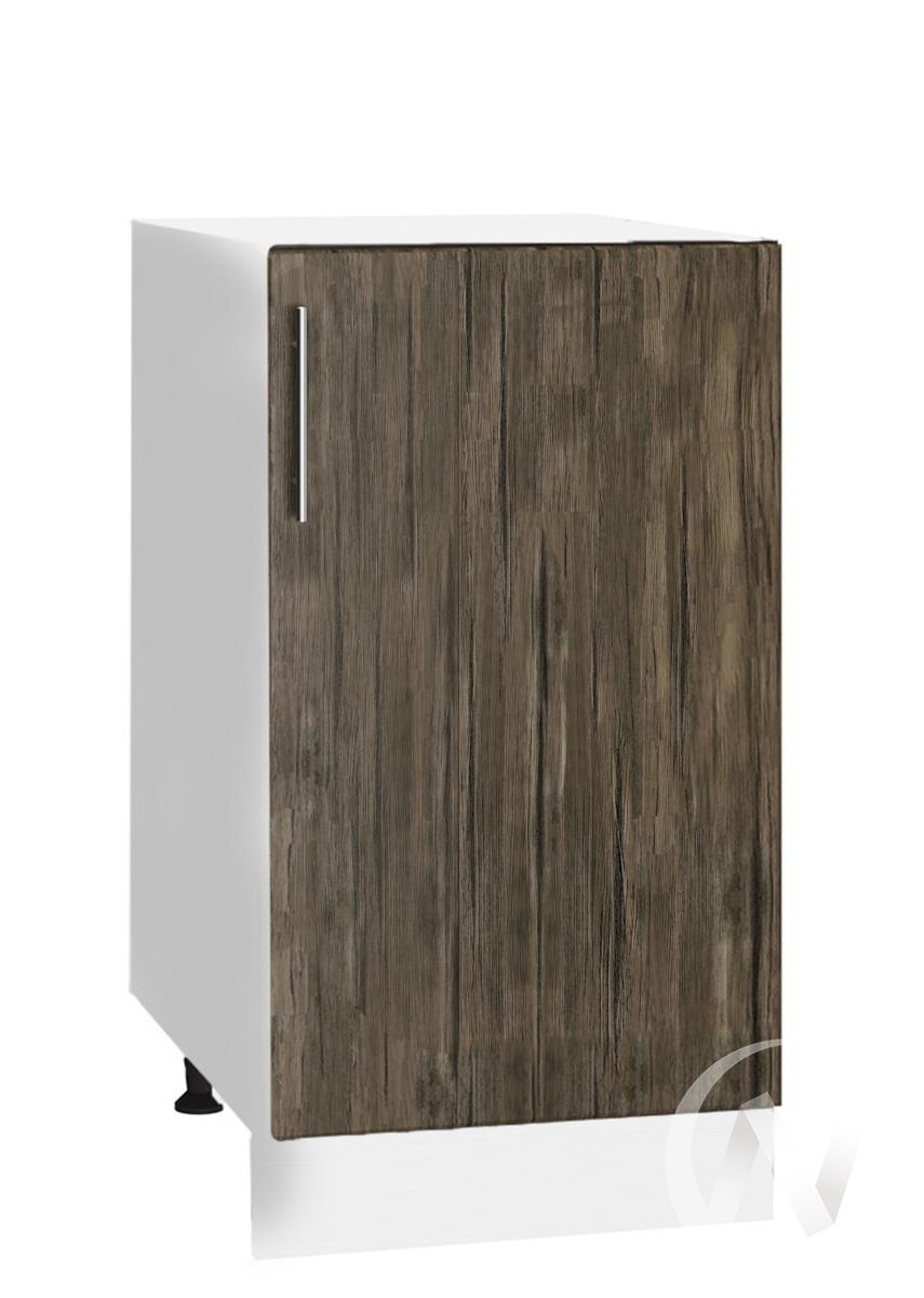 "Кухня ""Норден"": Шкаф нижний 400, ШН 400 (старое дерево/корпус белый)"