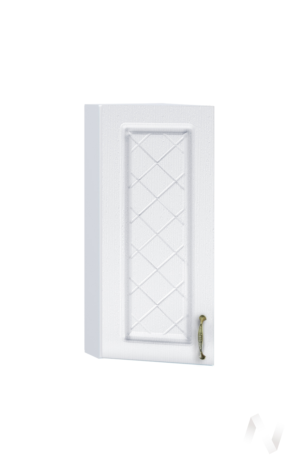 """Кухня """"Селена"""": Шкаф верхний торцевой 224, ШВТ 224 (Дуб белый/корпус белый)"""