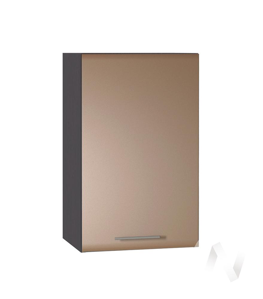 """Кухня """"Люкс"""": Шкаф верхний 400, ШВ 400 (Шоколад матовый/корпус венге)"""