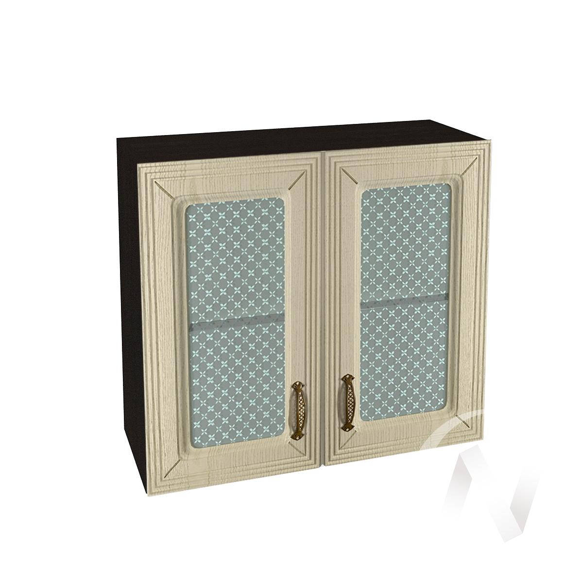 """Кухня """"Изабель"""": Шкаф верхний со стеклом 800, ШВС 800 (корпус венге)"""
