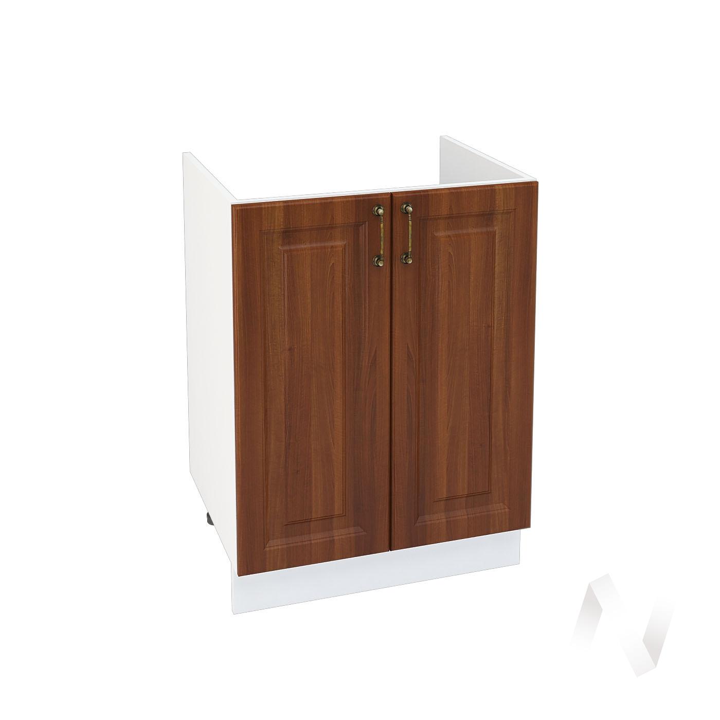 "Кухня ""Ницца"": Шкаф нижний под мойку 600, ШНМ 600 (Орех/корпус белый)"