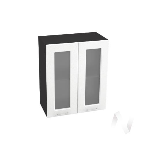 "Кухня ""Вега"": Шкаф верхний со стеклом 600, ШВС 600 (белый металлик/корпус венге)"