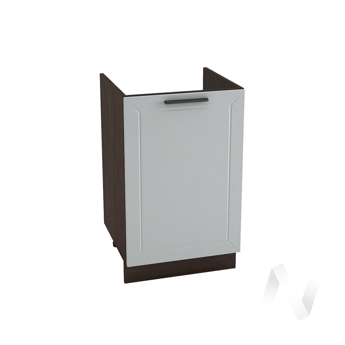 """Кухня """"Глетчер"""": Шкаф нижний под мойку 500, ШНМ 500 (Гейнсборо Силк/корпус венге)"""