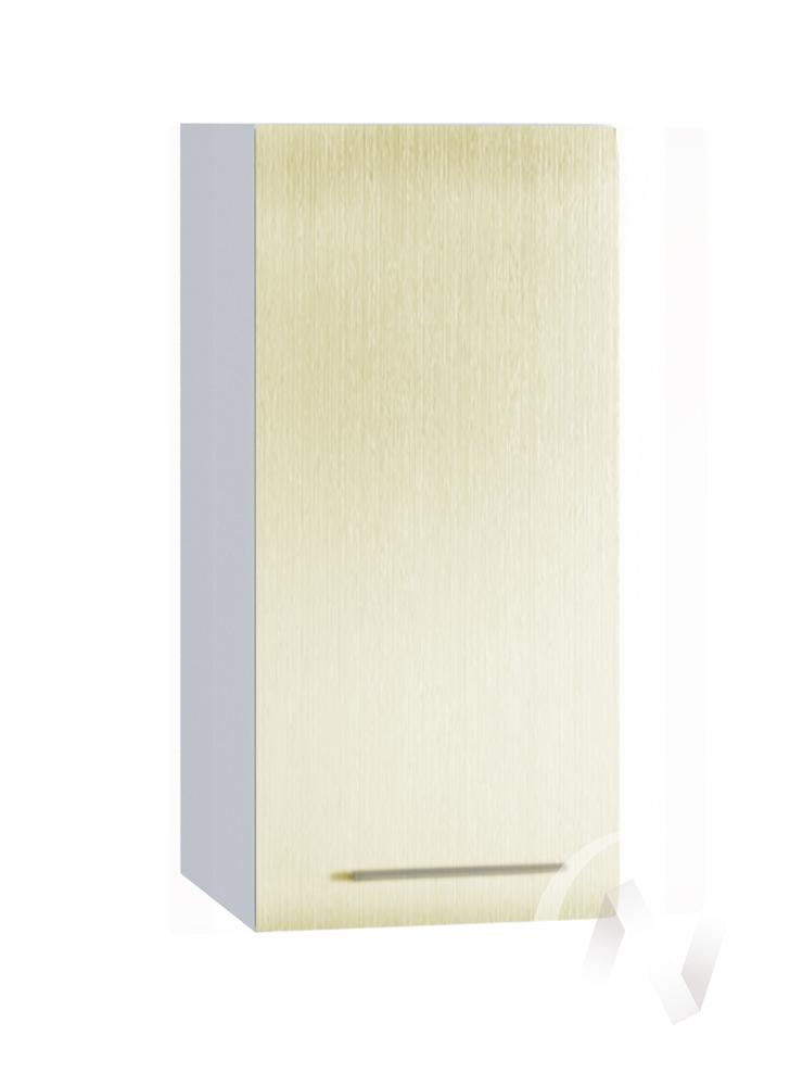 """Кухня """"Люкс"""": Шкаф верхний 300, ШВ 300 (Шелк жемчуг/корпус белый)"""