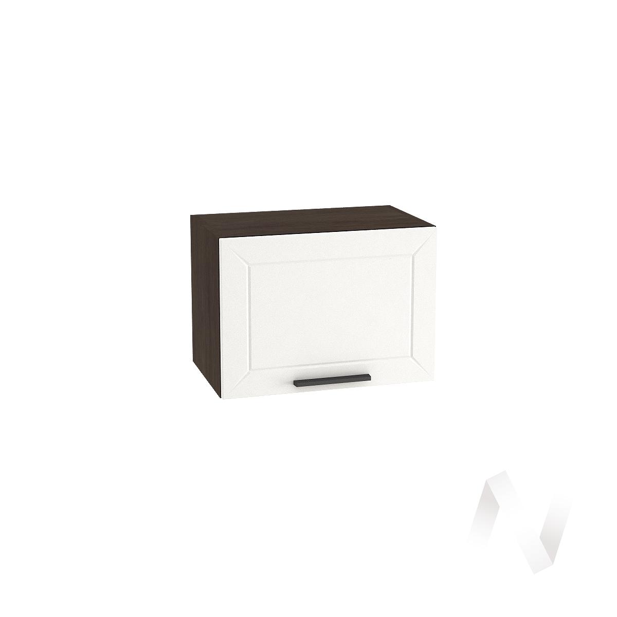 """Кухня """"Глетчер"""": Шкаф верхний горизонтальный 500, ШВГ 500 (Айленд Силк/корпус венге)"""