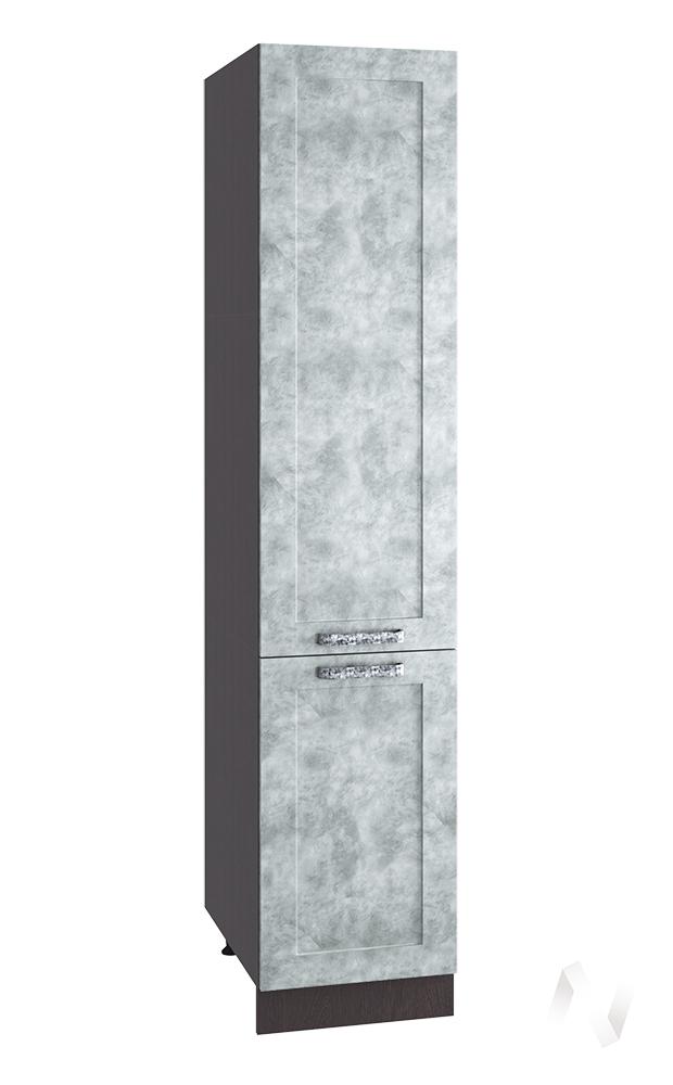 """Кухня """"Лофт"""": Шкаф пенал 400, ШП 400 (Бетон серый/корпус венге)"""