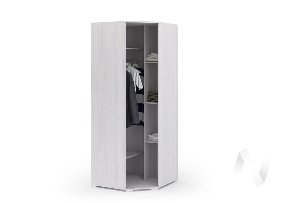 Шкаф угловой ШУ 021 Спальня Сальма (анкор/белый глянец)