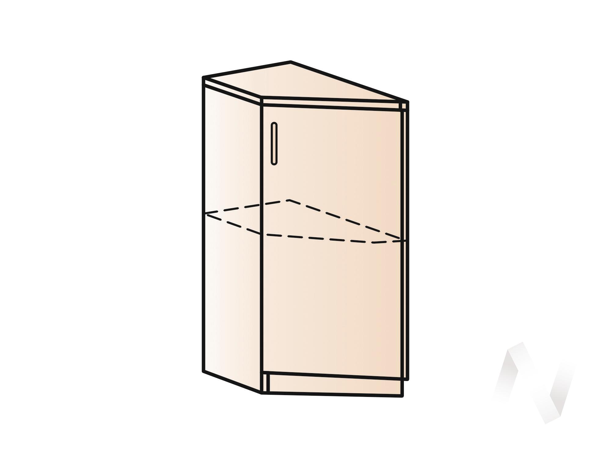 """Кухня """"Люкс"""": Шкаф нижний торцевой 300, ШНТ 300 (Шоколад матовый/корпус белый) в Новосибирске в интернет-магазине мебели kuhnya54.ru"""