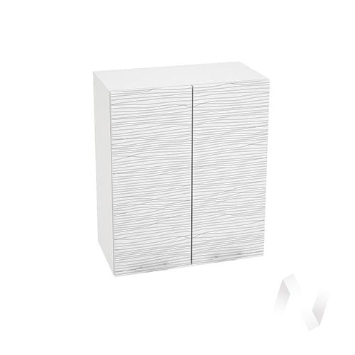 "Кухня ""Валерия-М"": Шкаф верхний 600, ШВ 600 (Страйп белый/корпус белый)"
