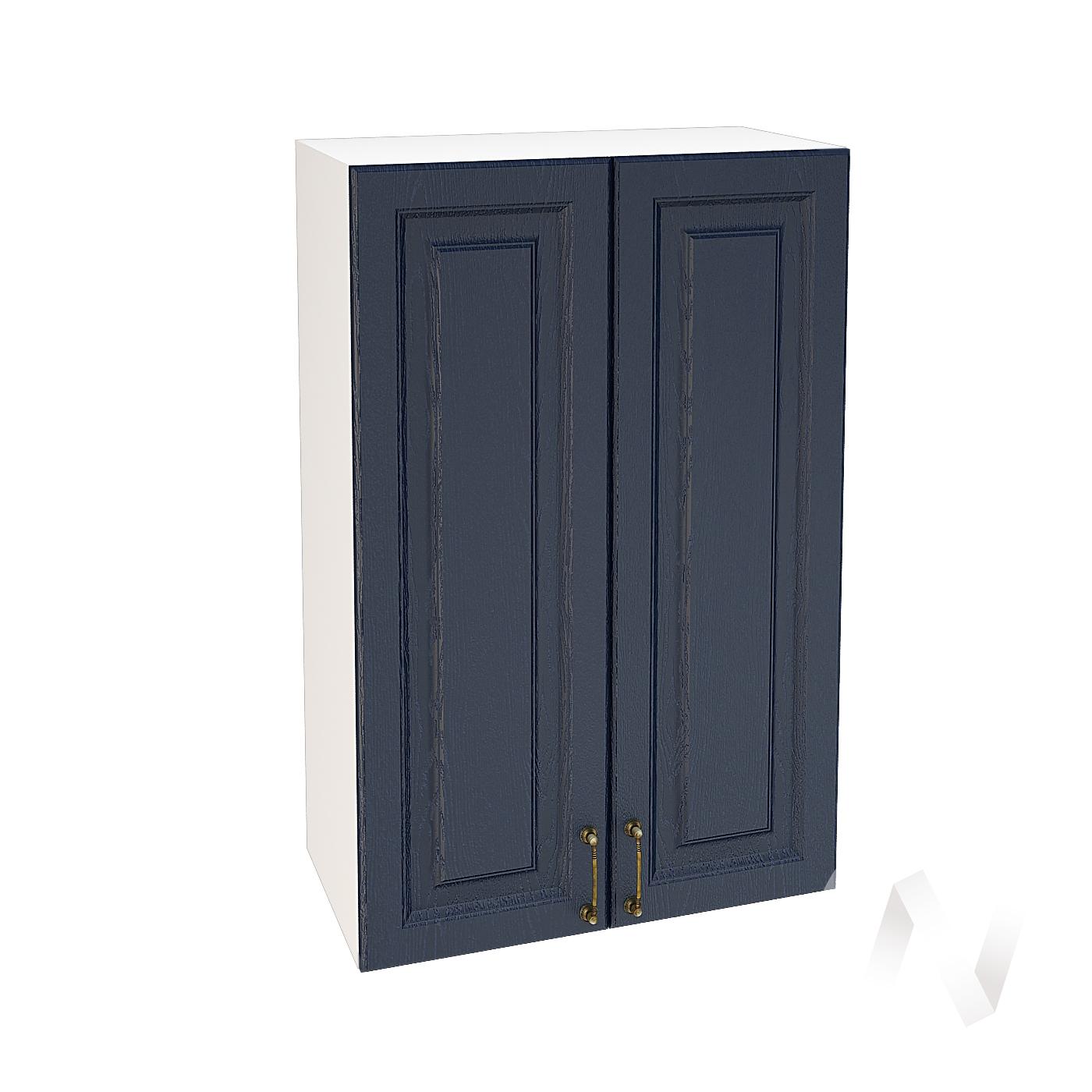 """Кухня """"Ницца"""": Шкаф верхний 609, ШВ 609 (Дуб чернильный/корпус белый)"""